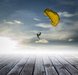 parachute on the sky, road to success