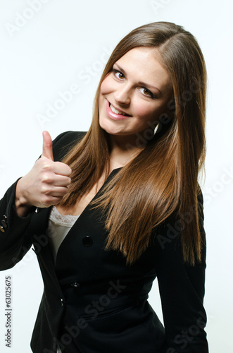 Girl giving thumb up