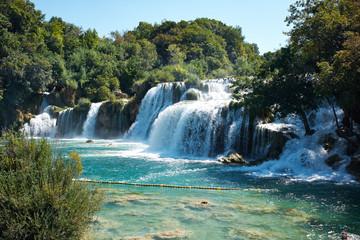 Waterfalls on Krka River. National Park, Croatia