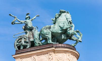 War's chariot, Hero's Square, Budapest
