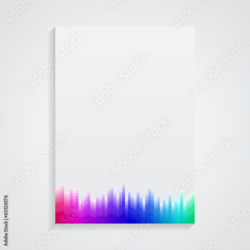 A4 Format paper design vector with text and shadow