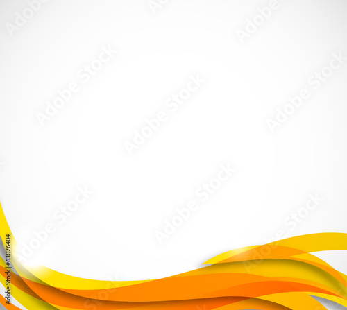 Abstract wavy background in orange color