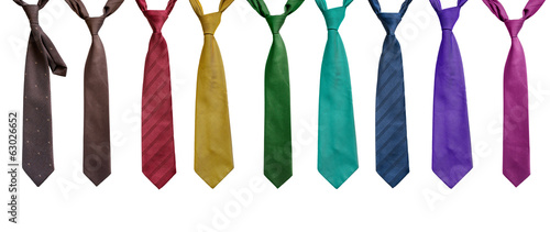 Set of neckties