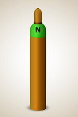 Single gas cylinder