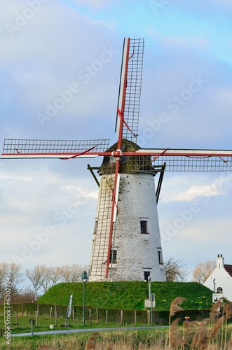 old windmill in Damme,   Flanders, Belgium