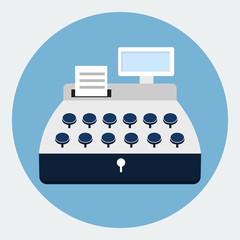 Cash register flat icon