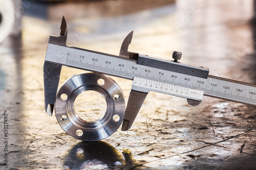 Leinwanddruck Bild vernier caliper measurement