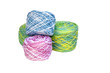 Four Rolls of Multi-Colored Crochet Cotton