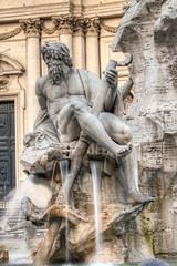 Bernini statue in piazza Navona, Rome