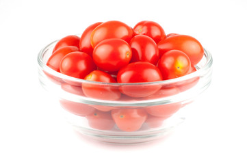 A bowl of cherry tomatos