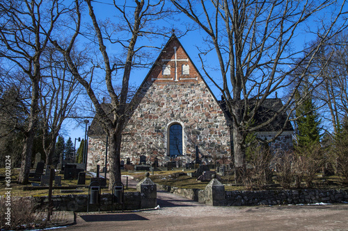 Espoo Cathedral in early spring
