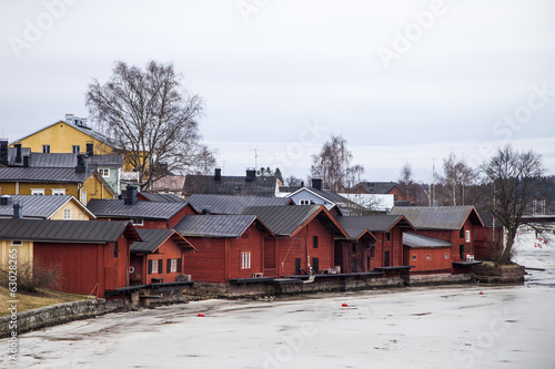 Old Riverside Storehouses In Porvoo