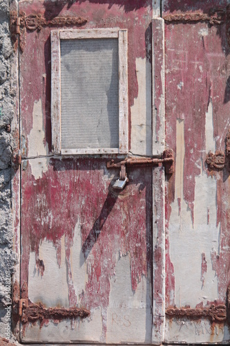 old red door under the sun,grecia,mediterraneo
