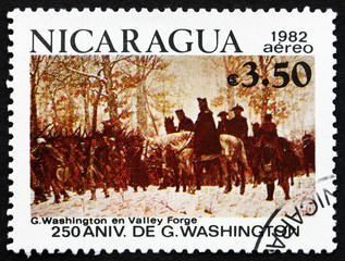 Postage stamp Nicaragua 1982 The March to Valley Forge