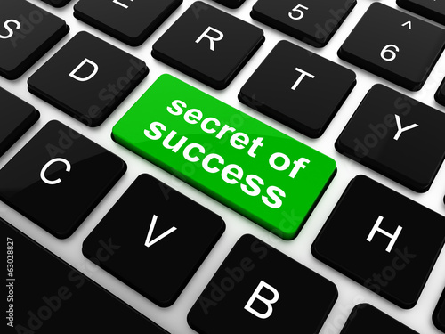 Computer keyboard with secret of success key,