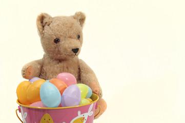 Teddy Bear Loves Easter Eggs