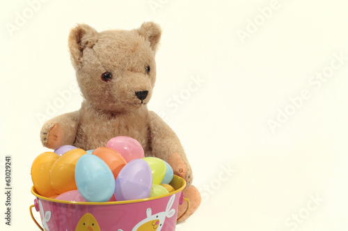 Teddy Bear Loves Easter Eggs