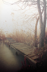 Angler pier at Lake Balaton, Hungary