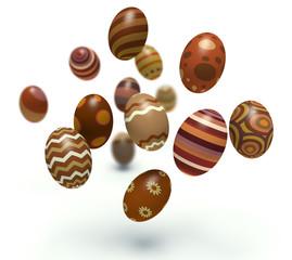 Easter eggs. 3d render illustration.