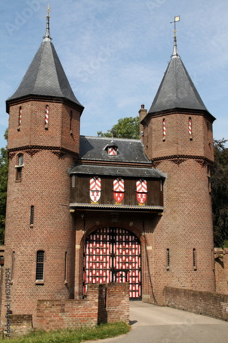 Entrance to the Castle de Haar  in Haarzuilens