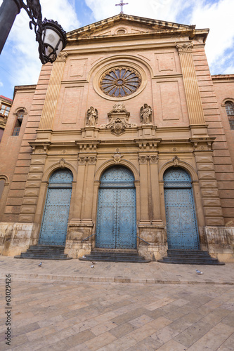 Valencia Jesuitas church near La Lonja Spain