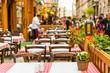 Street restaurant in Budapest, Hungary - 63029802