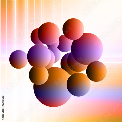 canvas print picture fantastic powerful bubbles background design illustration