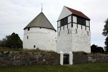 Nylars kirke on the island Bornholms. Denmark
