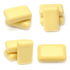 Collection of yellow soap