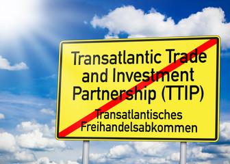 Wegweiser mit TTIP