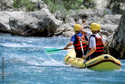 canvas print picture Teamsport Rafting