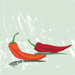card with peppers