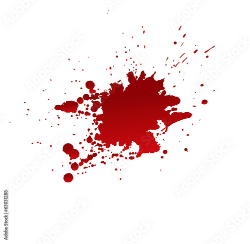Blood stains isolated on white background