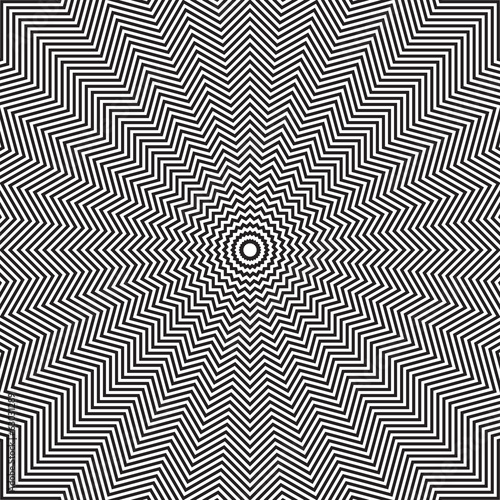 Optical illusion of rotation movement.