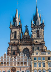 The Church of Our Lady before Tyn, from Old Town Square (Stare M