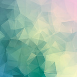 Geometric triangle pastel colored vector background - 63031828