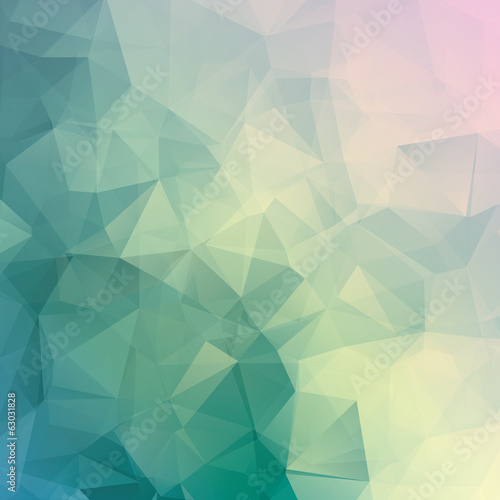 Geometric triangle pastel colored vector background