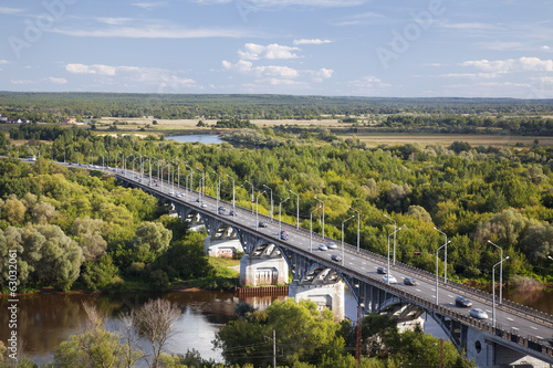 The bridge on the river Klyazma, Vladimir