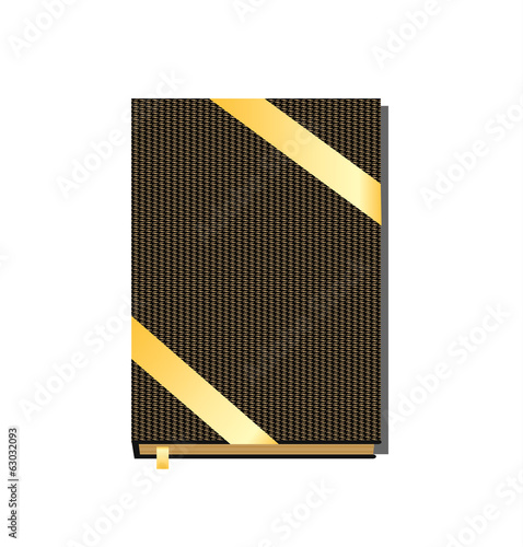 Hardcover book, vector illustration