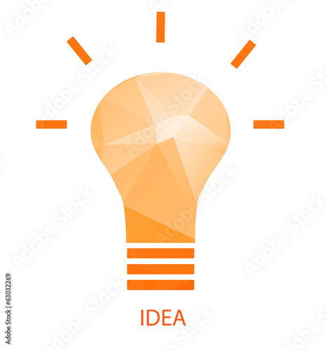 Lightbulb idea, vector illustration