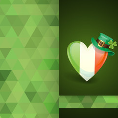 Patrick's Day. Irish Flag In The Shape Of A Heart