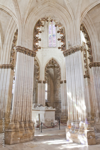 Batalha Monastery. Gothic Tomb of King and Queen