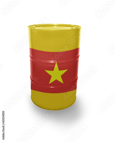 Barrel with Vietnamese flag