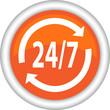 Векторный значок с изображением круглосуточной услуги