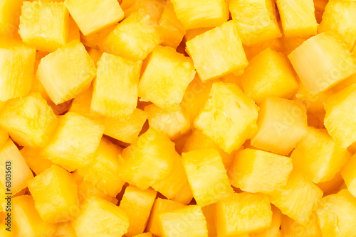 pineapple chunks background