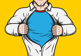 Fototapety Disguised comic book superhero