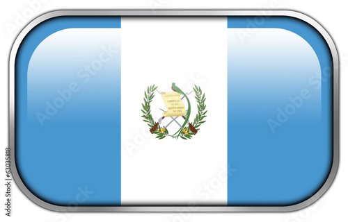 Guatemala Flag rectangle glossy button