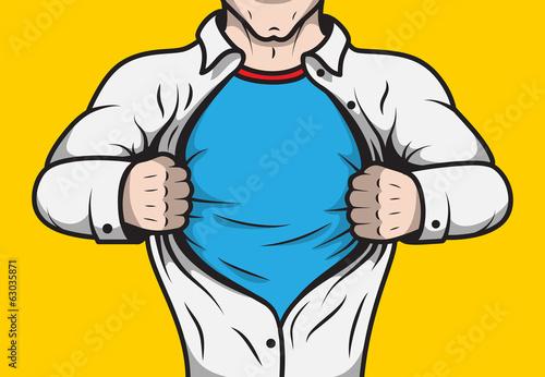 Przebrany superbohater komiksów