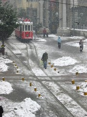 Istanbul snowing