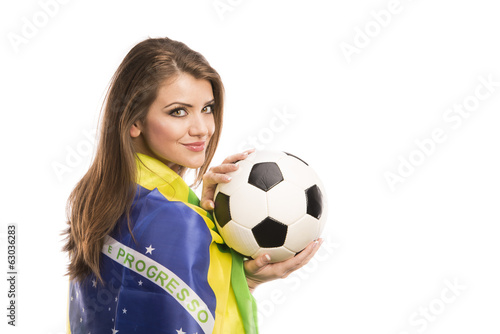Female soccer fan